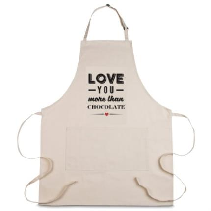 Gifts For Home - Personalised Love You More Than Chocolate Apron - Image 1