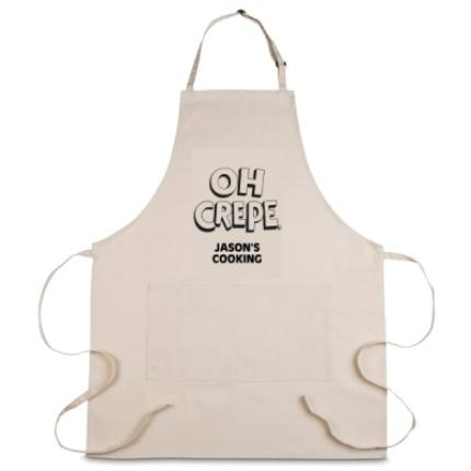 Gifts For Home - Personalised 'Oh Crepe' Apron - Image 1