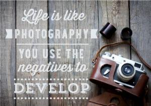 Greeting Cards - Life Is Like Photography Personalised Thinking Of You Card - Image 1