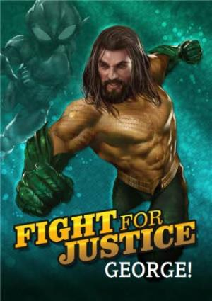 Greeting Cards - Aquaman - Happy birthday Card - Fight for Justice - Image 1