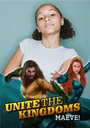 Greeting Cards - Aquaman - Happy birthday Card - Unite The Kingdoms - Photo Upload - Image 1