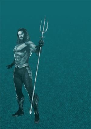 Greeting Cards - Aquaman - Happy birthday Card - Unite The Kingdoms - Photo Upload - Image 2