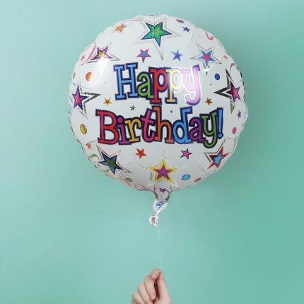 Balloons - Happy Birthday Stars Balloon - Image 2