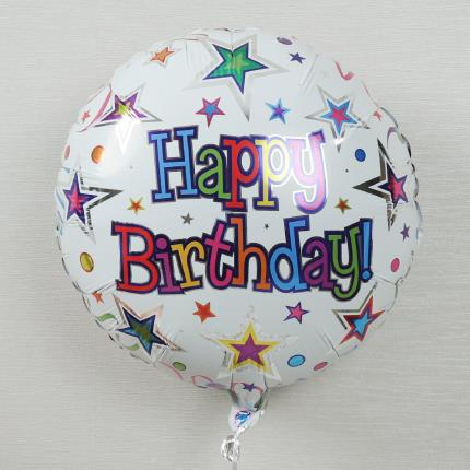 Balloons - Happy Birthday Stars Balloon - Image 3