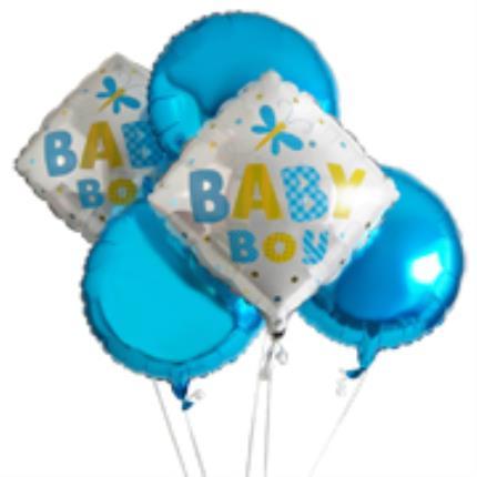 Balloons - Baby Boy Balloon Bouquet - Image 1