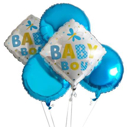 Balloons - Baby Boy Balloon Bouquet - Image 2