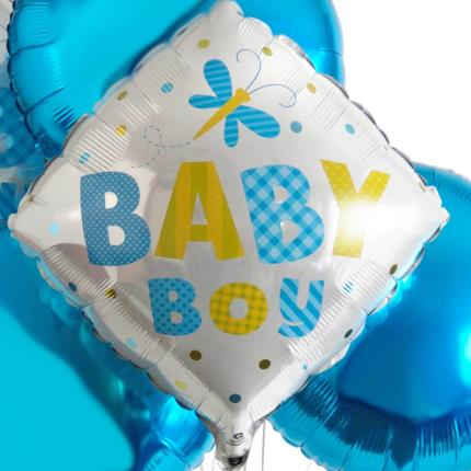 Balloons - Baby Boy Balloon Bouquet - Image 3
