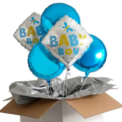 Balloons - Baby Boy Balloon Bouquet - Image 4