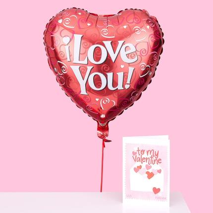 Balloons - Love You Helium Balloon - Image 1