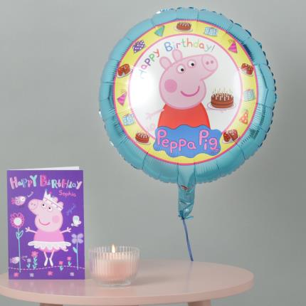 50th Birthday Balloons Delivery Peppa Pig Balloon