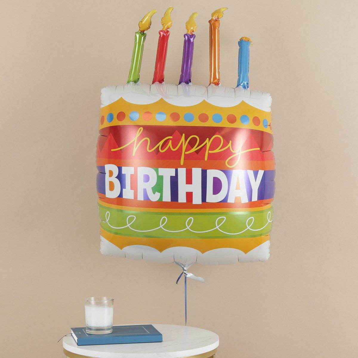 Giant Happy Birthday Cake Balloon Moonpig