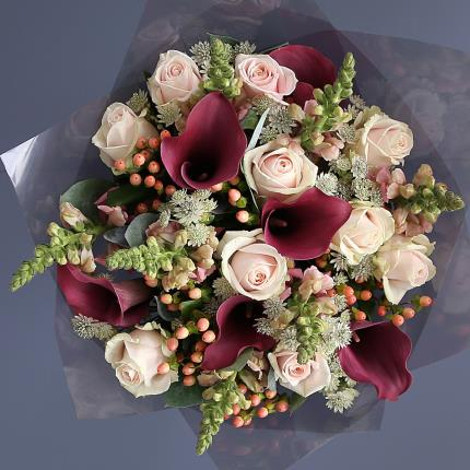 Flowers - Luxury Calla Lily & Rose Bouquet - Image 2