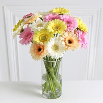 Flowers - Mixed Pastel Germini Bouquet - Image 2