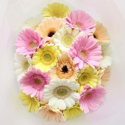 Flowers - Mixed Pastel Germini Bouquet - Image 3
