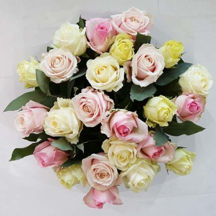 Flowers - Two Dozen Luxury Pastel Roses - Image 3