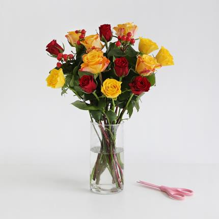Flowers - The Autumn Mixed Roses - Image 2