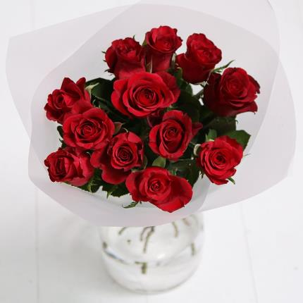 Flowers - 12 Red Roses - Image 3