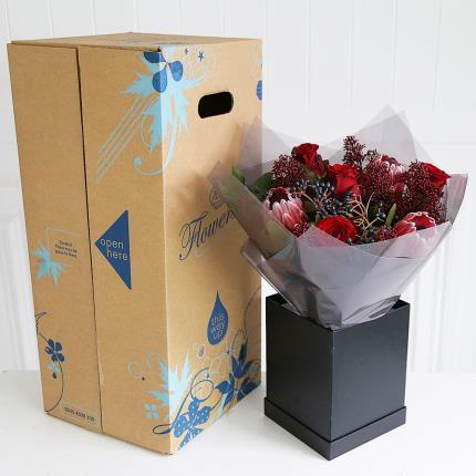 Flowers - Luxury Valentine's Gift Box with Chocolates - Image 4