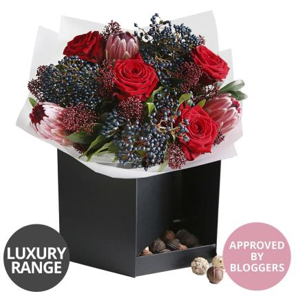 Flowers - Luxury Valentine's Gift Box with Chocolates - Image 5