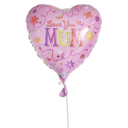 Balloons - I Love You Mum Heart Balloon - Image 2