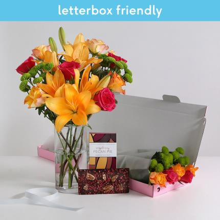 Flowers - The Letterbox Amber with Chocolate Slab - Image 2