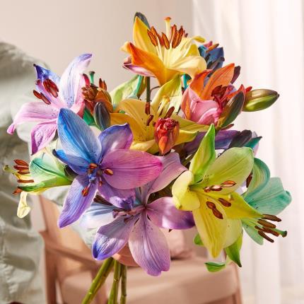 Flowers - The Rainbow Lilies - Image 4
