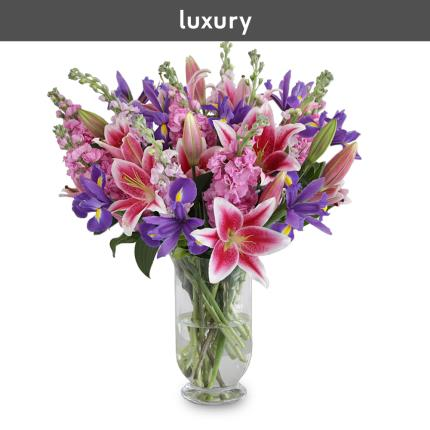 Flowers - The British Stocks, Lilies and Iris Bouquet - Image 3