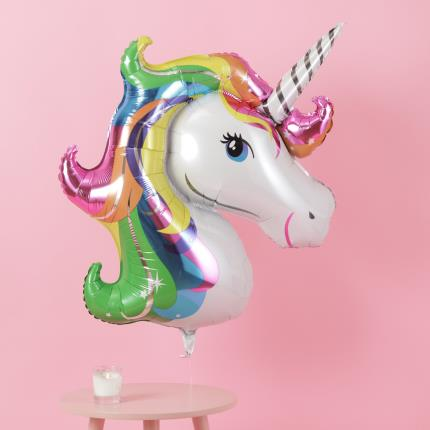 Balloons - Large Unicorn Head Balloon - Image 1