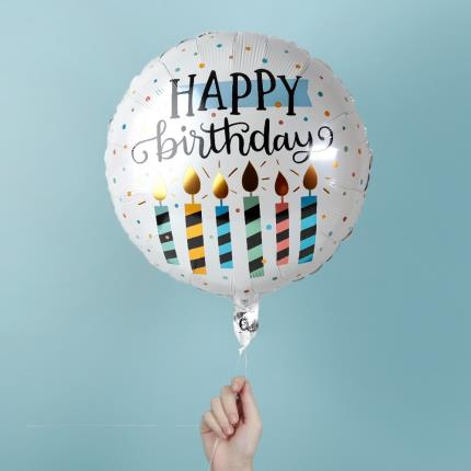 Balloons - Happy Birthday Candles Balloon - Image 1
