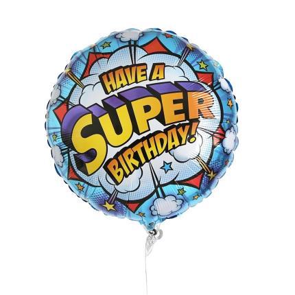 Balloons - Have A Super Birthday Balloon - Image 1