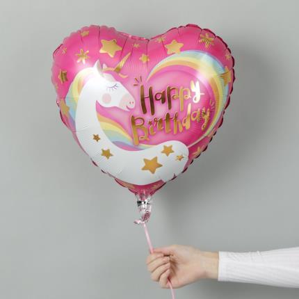 Balloons - Unicorn Happy Birthday Balloon - Image 2