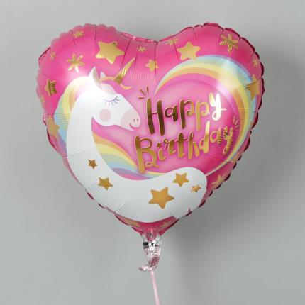Balloons - Unicorn Happy Birthday Balloon - Image 3