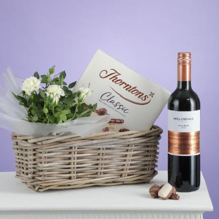 Flowers - The Red Wine Hamper - Image 3