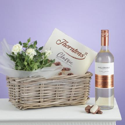 Flowers - The White Wine Hamper - Image 3