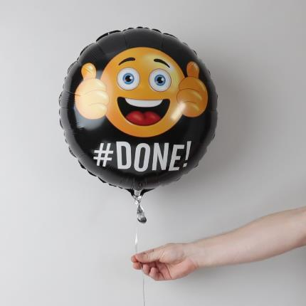 Balloons - Well Done Emoji Balloon - Image 1