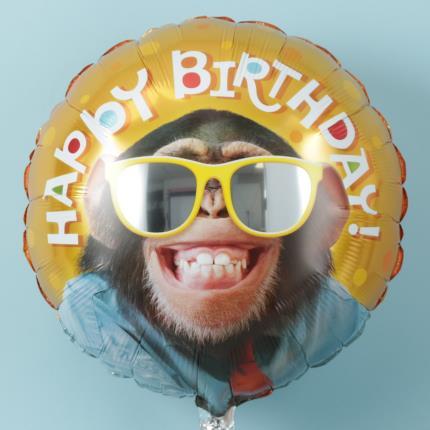 Balloons - Happy Birthday Monkey Balloon - Image 1