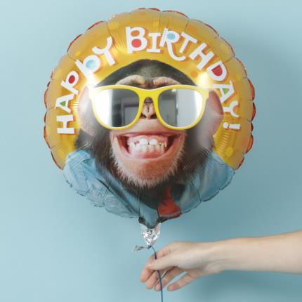 Balloons - Happy Birthday Monkey Balloon - Image 2