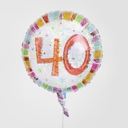 Balloons - 40th Birthday Balloon - Image 1