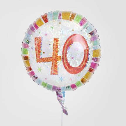 Balloons - 40th Birthday Balloon - Image 2
