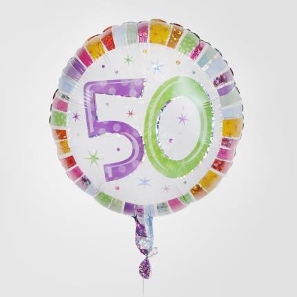 Balloons - 50th Birthday Balloon - Image 1