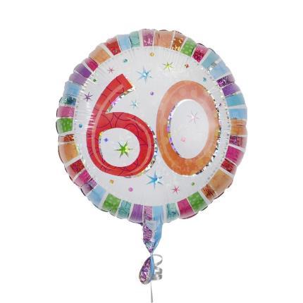 Balloons - 60th Birthday Balloon - Image 1