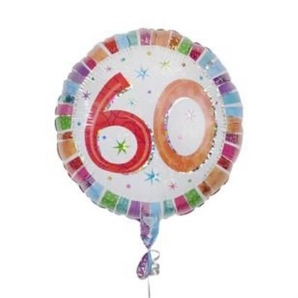 Balloons - 60th Birthday Balloon - Image 2