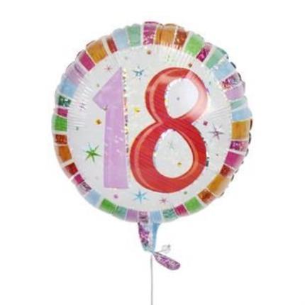 Balloons - 18th Birthday Balloon - Image 1