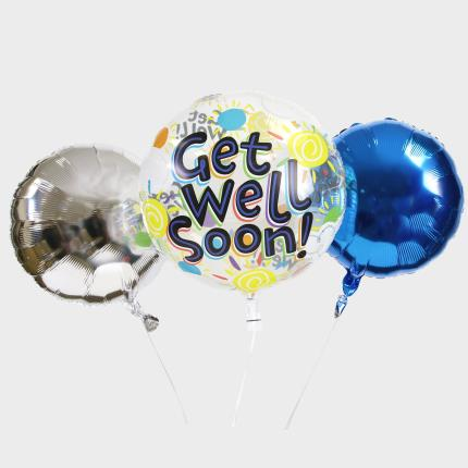Balloons - Get Well Soon Bubble Balloon Bouquet - Image 1