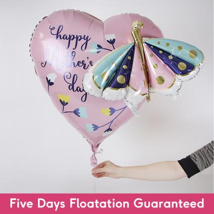Balloons - Supersize Happy Mother's Day Butterfly and Flower Balloon - Image 2