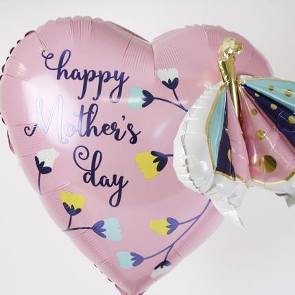 Balloons - Supersize Happy Mother's Day Butterfly and Flower Balloon - Image 3