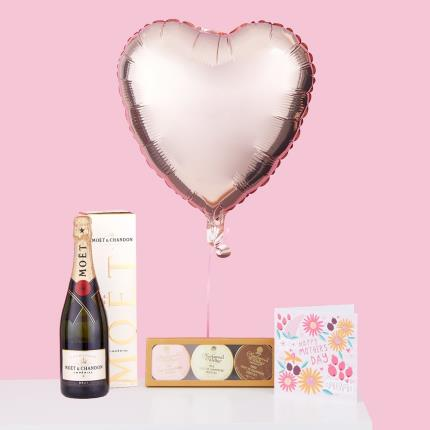 Balloons - Mother's Day Balloon Bouquet, Prosecco & Chocolate Gift Set - Image 2