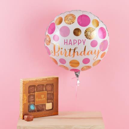Balloons - Happy Birthday Balloon & Chocolate's Gift Set - Image 1