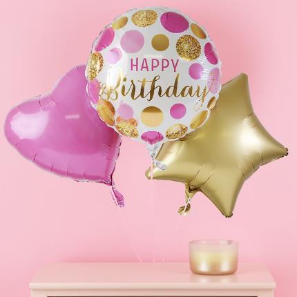 Balloons - Happy Birthday Balloon Trio - Image 1