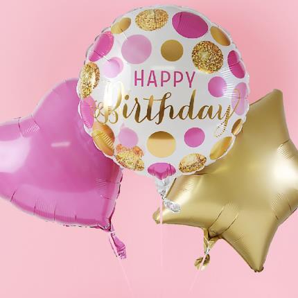 Balloons - Happy Birthday Balloon Trio - Image 3
